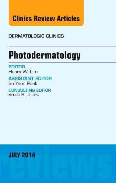 Photodermatology By Lim, Henry
